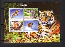 Privé édition 2017 MNH Animaux Tigres Prédateurs Afrique Cap Vert - Islas De Cabo Verde