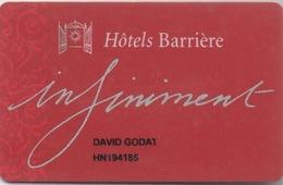 Hôtels Barrière : Infiniment (Mauvais État) - Casino Cards