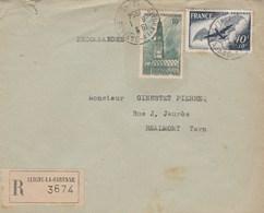 Lettre Recommandée 3674 CLICHY LA GARENNE Seine 1954 Bel Affranchissement Dont PA 23 Et Arras Pour Réalmont Tarn - Cartas