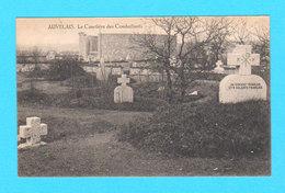 CPA AUVELAIS : Le Cimetière Des Combattants (Un Sergent Français Et 9 Soldats Français) - Ed. S-D 129 R Rogier, Brux - Sambreville