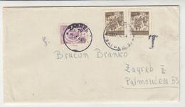 Yugoslavia Postage Due On Taxed Letter Cover Travelled 1948 Zagreb B190720 - Portomarken