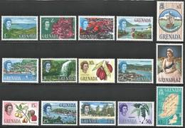 1966 Grenada Definitives: Ships, Maps, Flora, Landscapes Set (** / MNH / UMM) - Grenada (...-1974)