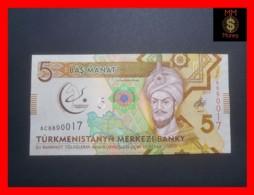 TURKMENISTAN 5 MANAT 2017 P. NEW *COMMEMORATIVE* - Turkmenistan