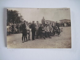 CPA  Groupe De  Militaires Prisonniers A Giessen Allemagne 1916   TBE - War 1914-18