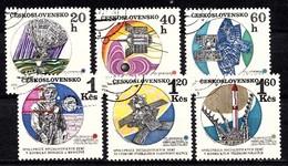 Tchécoslovaquie 1970  Mi.nr.:1970-1975 Interkosmos  Oblitérés / Used / Gestempeld - Tchécoslovaquie
