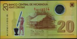 NICARAGUA - 20 Cordobas Res.12.09.2007 {Polymer} UNC P.202 A - Nicaragua