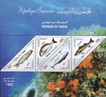 Tunisia 2008 Fishes Minisheet MNH - Marine Life