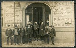4830 - Echtfoto-Ansichtskarte Gaststätte (Berlin ??) - Mit Werbung Schultheiss Bier Und Sinalco - Hotels & Gaststätten