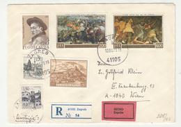 Yugoslavia Multifranked Letter Cover Travelled Express Registered 1973 Zagreb To Wien B190720 - Brieven En Documenten