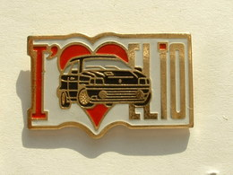 PIN'S RENAULT - J'AIME CLIO - ROUGE - Renault