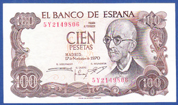 Spain/ España - 100 Pesetas, Manuel De Falla / 1970 - [ 3] 1936-1975 : Regime Di Franco