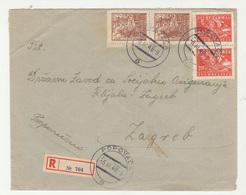 Yugoslavia DF Letter Cover Travelled Registered 1948 Popovača To Zagreb B190720 - Kroatien