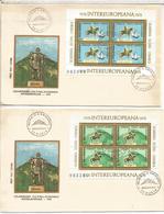 RUMANIA FDC COOPERACION INTER EUROPEA DECEBAL MIRCEA CABALLO HORSE - Militares