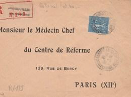 Yvert 205 Semeuse Lignée Seul Sur Lettre Recommandée ARNOUVILLE Les GONESSE Seine Et Oise 1931 Pour Paris - Cartas
