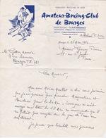 BOXE - LETTRE FFB - AMATEUR BOXING CLUB DE BOURGES - Autres