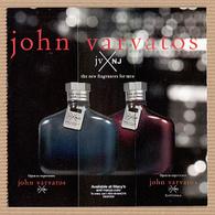 """CC Carte Parfumée """"JOHN VARVATOS JV/NJ"""" Perfume Card Rabat 5x5 - Modern (from 1961)"""