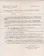 BOXE - LETTRE FEDERATION FRANCAISE DE BOXE -  1965 - MISE AU REPOS DES BOXEURS BLESSURE - Autres