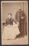 Ancienne Photo Cdv Albumine Algérie Famille C.1865 - Photographe Prod'Hom & Fils, Bône - Photos