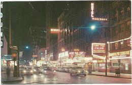W4016 Chicago - Twilight Settles Down - Auto Cars Voitures / Viaggiata 1962 - Chicago