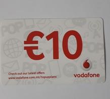 MALTA - VODAFONE  PHONECARD  10  EUROS   2019 - Malte