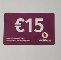 MALTA - VODAFONE  PHONECARD  15  EUROS   2019 - Malte