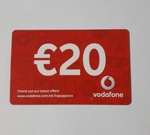 MALTA - VODAFONE  PHONECARD  20  EUROS   2019 - Malte