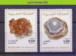 Mif073 MINERALEN GEMSTONES MINERALIEN UND GESTEINE MINÉRAUX MAROKKO MAROC 1975 PF/MNH # - Mineralen