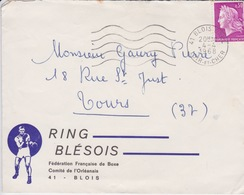 BOXE - ENVELOPPE DU CLUB RING BLESOIS - BLOIS - LOGO BOXEUR - Boxing