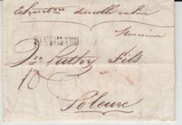 USED LETTER 15/01/1925 NEUCHATEL SOLEURE GRIFFE NEUCHATEL - ...-1845 Préphilatélie