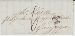 USED LETTER 03/02/1849 MILANO GONZANGA - ...-1850 Préphilatélie