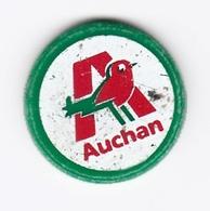 Jeton De Caddie En Plastique - Auchan - Supermarché - Einkaufswagen-Chips (EKW)