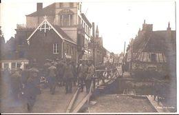 COMINES KOMEN  AU PONT NEUF CARTE PHOTO ALLEMANDE 1914/18 6/1387 D3 - Comines-Warneton - Komen-Waasten
