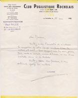 BOXE - LETTRE DU CLUB PUGILISTIQUE ROCHELAIS - LA ROCHELLE - - Boxing