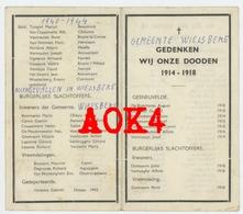 WIELSBEKE Doodsprentje 1914 1918 1940 1945 Oorlogsslachtoffers - Images Religieuses