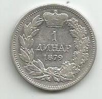Gh3 Serbia 1 Dinar 1879. Ag KM#10 - Serbia
