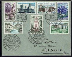 """Fr - Affranchissement Multicolore - Cachets """"La Lettre Et Ses Supports, Musée Postal Paris"""" 8-3-1960 - TB - - 1921-1960: Periodo Moderno"""
