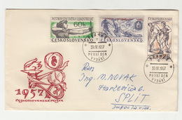 Czechoslovakia 1957 Sport FDC Travelled To Yugoslavia B190720 - Andere