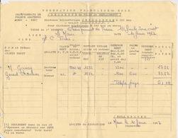 BOXE - FEUILLE DE COMPTE DE FRAIS DEPLACEMENT CHAMPIONNAT DE FRANCE AMATEUR DE BOXE 1966 - 1967 - LE MANS 72 - Autres