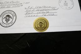 Operation Desert Storm Persian Gulf 1991 Cancel Army Postal Service Operation Desert Storm Seal Nov 7 1991 WYSIWYG  A04s - Militaria