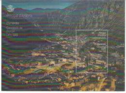 ANDORRA.FHASA/FEDA.(Forces Hidroelèctriques D'Andorra) 90 Ans.Bloque Lenticular, Neuf ** Haute Faciale - Andorra Francese