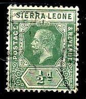 SIERRA LEONE 108° 1/2p Vert George V(10% De La Cote + 0,15) - Sierra Leone (...-1960)