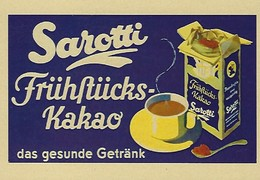 SAROTTI  Frühstücks Kakao  2 Scans - Reklame