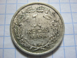 1 Reichsmark 1925 (A) - [ 3] 1918-1933 : República De Weimar