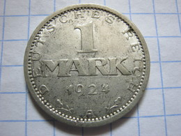 1 Mark 1924 (A) - [ 3] 1918-1933 : Weimar Republic