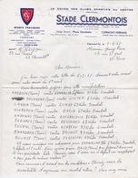 BOXE - LETTRE STADE CLERMONTOIS - CLERMONT-FERRAND - SECTION BOXE  -  ORGANISATION SOIREE GALA BOXING - Autres