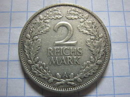 2 Reichsmark 1925 (A) - [ 3] 1918-1933 : Weimar Republic