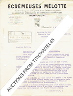 Lettre (2 Pages) De REMICOURT 1929 - ECREMEUSES MELOTTE - Fabrication Spécialisée D'écrémeuses Centrifuges - Belgique