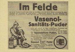 VASENOL-SANITÄTS-PUDER   2 Scans - Reklame