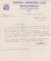 BOXE - LETTRE CENTRAL SPORTING CLUB ROCHEFORTAIS  ROCHEFORT SUR MER LOGO BOXE - ANNULATION SOIREE GALA BOXING - Autres