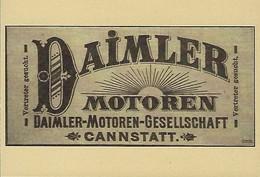 DAIMLER-MOTOREN   2 Scans - Reklame